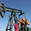 Stock Photo: Oil Worker Well Paid Job