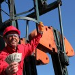 Stock Photo: Smiling Oil Worker