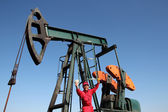 Oil Worker Well Paid Job — Stock Photo