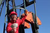 Smiling Oil Worker — Stock Photo