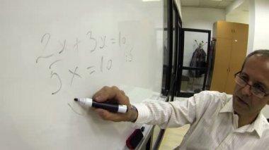 Math Teacher at Work — Stock Video