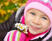 Autumn little girl — Stock Photo