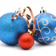 Stock Photo: Christmas toys balls