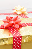 Boże Narodzenie pudełka z taśmy — Zdjęcie stockowe