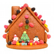 Decorated gingerbread house — Stock Photo #18142191