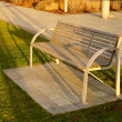 Stock Photo: Single bench