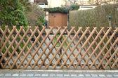 Dekoratif ahşap çit — Stok fotoğraf