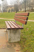 Sinlge bench — Stock Photo