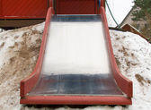 Children empty slide — Stockfoto