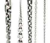 Set of metal chains — Stock Photo