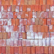 Red clay bricks. — Stock Photo