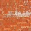 Stock Photo: Red clay bricks.