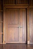 Teak doors. — Stock Photo
