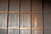 Teak wood wall background — Stock Photo