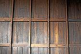 Teak wood wall background — Stock Photo