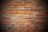 červená cihlová zeď. — Stock fotografie