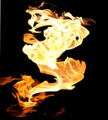 Fire flames collection. — Stock Photo