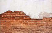 Antigua muralla de ladrillo rojo. — Foto de Stock