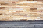 Stenen muren, houten balkons. — Stockfoto
