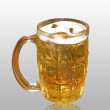 Stock Photo: Glass of beer.