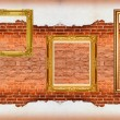 Picture Frame  red brick wall — Stock Photo