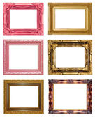 Set picture frame isolated on white background — Stock Photo