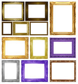 Set Antique gold frame — Stockfoto