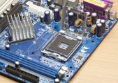 Printed computer motherboard  — Stock Photo