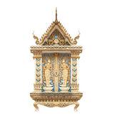 Buddhist temple wall in Thailand Phra That Doi Suthep — Stock Photo