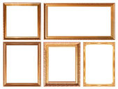 Glod  picture frame — Stock Photo