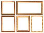 Glod  picture frame — Foto de Stock