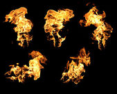 Fire and flames — Stock Photo