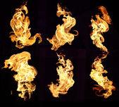 火火焰背景 — 图库照片