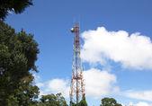 Antenna and satellite radio. — Stock Photo