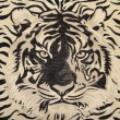 Fabric texture with pattern tiger - Stock Photo