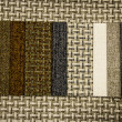 Different colors Textile flax fabric wickerwork texture — Stock Photo