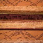 Textile flax fabric wickerwork texture striped — Stock Photo #16645893