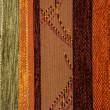 Different colors Textile flax fabric wickerwork texture — Stock Photo #16646013