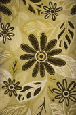 Colorful textile flax fabric with flowers — Photo