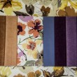 Texture of fabric in different colors - Stock Photo