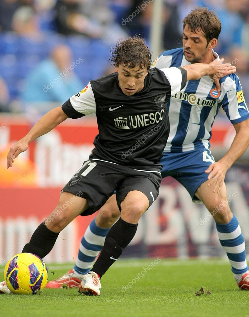Sebastian Fernandez of Malaga CF during a Spanish League match between Espanyol and Malaga CF at the Estadi Cornella on October 27, 2012 in Barcelona, Spain  Stock Photo #14867773