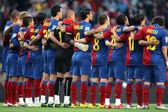 Futbol club barcelona zespół — Zdjęcie stockowe