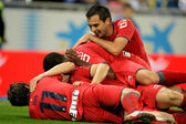 Osasuna players celebrating goal — Stock Photo