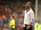 Barcelona's coach Josep Guardiola — Stock Photo