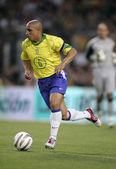 Brazilian player Roberto Carlos — Stock Photo