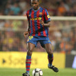 Futbol Club Barcelona player Eric Abidal - Stock Photo