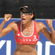 North American beach Volley player Tyra Turner - Stock Photo