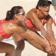 North Americans beach Volley players Akers & Turner - Stock Photo