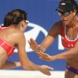 North Americans beach Volley players Akers & Turner — Stock Photo