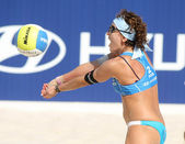 Brazilian beach Volley player Shelda Bede — Stock Photo